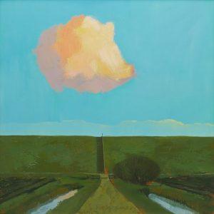 De wolk die boven de dijk verscheen, kolleksje Stifting Nijkleaster, foto: Reinder Herder